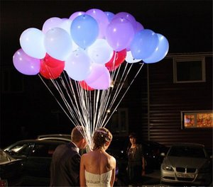 LED white luminous balloon flash luminous balloon birthday party celebration bar performance ball wholesale customizable LOGO