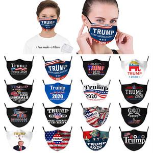 2020 Trump Face Mask Trump Fashion Face Mask пыле- и Anti-дымка 2шт Фильтры маски XD23893 Дети взрослых