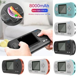 Portable 8000mAh Fast Wireless Charging Power Bank with Game Console Function 3 Inches HD Color Display Screen