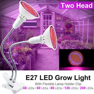 Goodland Phyto Lamba Tam Spektrum LED Kapalı Fideler Çiçek Fitolampy İçin Işık E27 Bitki Lambası Fitolamp büyütün Çadır Kutusu büyütün