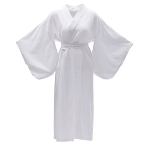 Traditionnel Kimono Yukata Oriental élégant vêtements longs robe blanche japonaise femmes cosplay costume robe ethnique asie