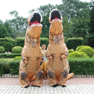 Jurassic dinosaur inflatable suit Tyrannosaurus inflated costume Funny Performance props Halloween cosplay mask Polyester fit adult