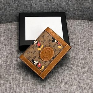 New Men's Women's Animal Card Holder Wallet Light Brown Leather Retro Coin Purse Embroidered Jacquard Card Case Size 11-8.5-2.5cm