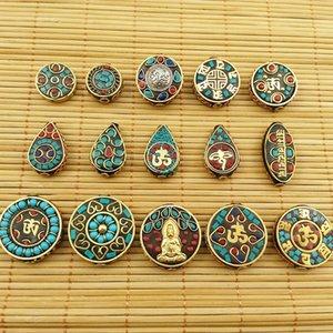Непал Diy Будда 70-84 этнические бусины стиль потерять шарики DIY браслет ожерелье ключ меди Buddha цепь бисер 8pFuS