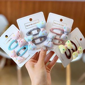 Los niños del diseñador Jefe accerssories niños Almohada Lazo para el cabello floral del Bowknot del pelo del anillo del pelo de la venda del tocado de Corea del Sur Hairtie BB Clip