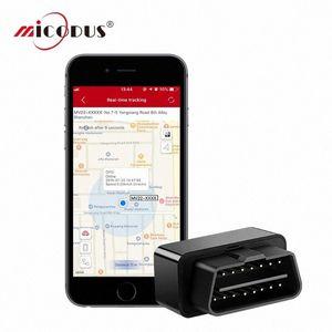 ÖMÜR BOYU ÜCRETSİZ APP MV22 OBD GPS Tracker PlugPlay Mini GPS Tracker Ücretsiz Kurulum Alarmı OBD Araç Coğrafi çit kOwz # Plug-out