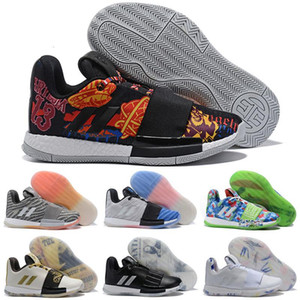 New MVP Beard Harden Vol. 3 Low White Gold Silver Kids Basketball shoes for Good Qaulitys 3s Mens trainers Sports Sneakers