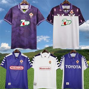Retro Fiorentina Batistuta classique Soccer Jersey 1992 93 98 99 00 Florence BIGICA ancien maillot chemise RUI COSTA Edmundo Football