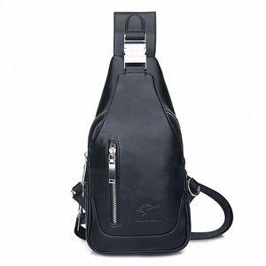 Breast Package Mens Bag USB Bag Male Motion Men Xie Kua Bao Male Leisure Breast Package Gun Xie Bei Bao Hiking Backpack Duffel Bags Fr H5kz#