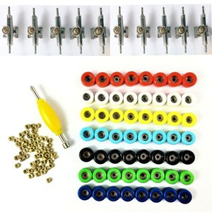 Lot Bearing Wheels Nuts & Trucks For 96mm Fingerboard Skateboard accessory