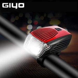 GYIO Luz de bicicleta à prova d'água IPX5 cauda Aviso de bicicleta LED Farol Flash Light recarregável passeio Segurança