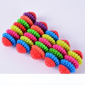 Küçük Hayvan Köpek Köpek Renkli Kauçuk Diş Teething Sağlıklı Dişler Gums Oyuncak Chew