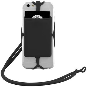 Fashion Lanyard Mobile Phone Silicone Holder Wallet Case Credit Card Slot Holder Lanyard For iPhone 6 7 8 Plus XR Huawei LG Motor