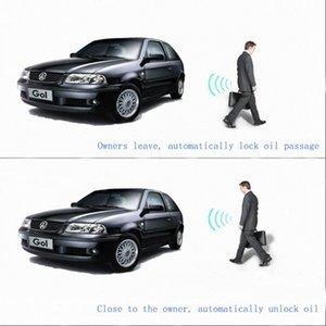 Construit en système de verrouillage sans clé d'entrée à distance Starlionr Système d'alarme de voiture Elechic caché voiture Control Engine Start / Stop Butto LiXq #