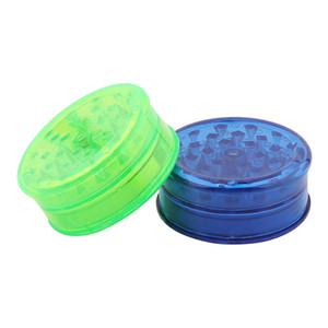 Molinillos de humo de tabaco de 60 mm Grinder de plástico 3 LayerTransparent plástico Mills dientes encajan amoladoras coloridas para el humo Accesorios GGA3624-5