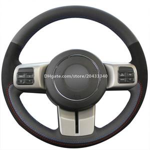 Copertura di rotella nera in pelle scamosciata auto per Jeep Compass Grand Cherokee