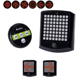 PROBE SHINY Bicycle Lights Bike Rear Tail Light Turn Signal Wireless Remote Control New High Quality A715