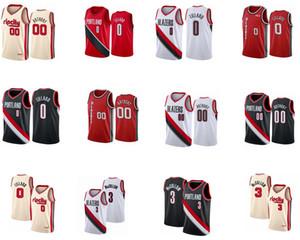 PortlandizBlazers # Damian0Lillard Carmelo00Anthony McCollum salıncak adam diktim ve işlemeliNBA basketbol formaları.