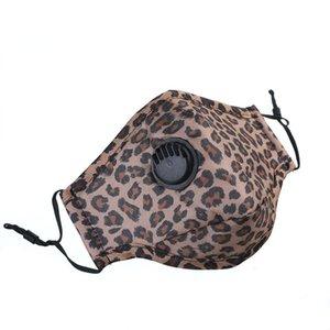 Valve маска с респираторами Cotton Washable многоразового лица Ca Leopard Printed Анти пыль Открытых Защитные Hha Xmi6 #