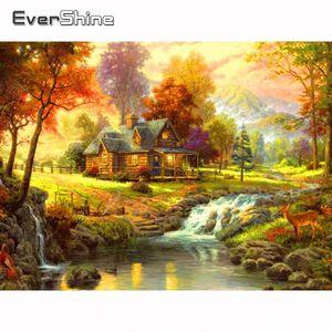 Evershine diamante bordado Full Set Diamond River Pintura Cruz Paisagem Stitch Kit Diamante Mosaic rodada completa Broca Art Venda Ze0A #