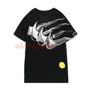 2020 new Spring summer paris mens luxury graffiti collaboration t shirt Fashion T shirts womens Designer tshirts Casual Cotton Tee
