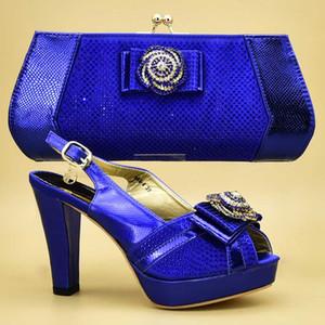 Sapatos italianos com harmonização de Bag Set Decorado com Shoes and Bags apliques africanos condizer elegante Mulheres italiano Bombas