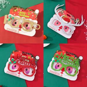 Feliz Natal Óculos Halloween Adulto Miúdos do Natal Costume óculos de armação de Santa Snowman Xmas Fotografia Props DDA327