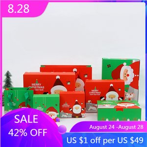 Christmas gift box Santa Claus snowman candy paper packaging storage box Christmas party gift decoration