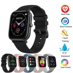 ID P8 intelligente degli uomini della vigilanza watchs Donne IP67 impermeabile Tracker Fitness Sport Heart Rate Monitor Smartwatchs full touch per Amazfit Gts Xiaomi