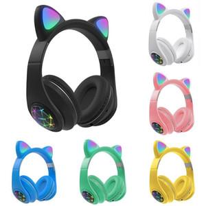M2 Перезаряжаемый Складная беспроводная Bluetooth Luminous Cute Cat Ear Headphone