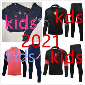 D Ort Ajax Designer Abbigliamento 20 21 AC Real Madrid Bambini Tracksuit Set Boys 2020 2021 Soccer Training Suit Football Tracksuit Jougging Giacca da jogging