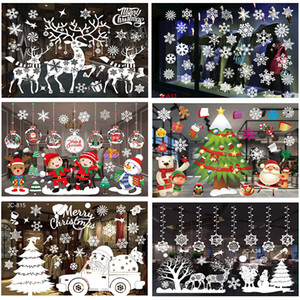 Merry Christmas 2020 Christmas Decorations For Home Christmas Ornaments Happy New Year 2021 Xmas Wall Window Glass Stickers