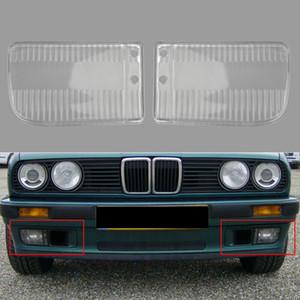 Areyourshop Car Pair Front Bumper Fog Lights Clear Lens Cover Fit For BMW E30 318i 318is 82-91 USA Car Auto Accessories Parts