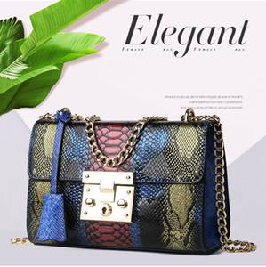 Alta calidad bolsos de la moda femenina de Shouder Bag 20 Mujer Sac Crossbody del estilo de Top Rank nueva tendencia Urban Beauty especial serpentina retro