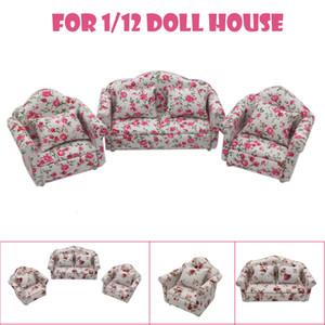 Di alta qualità Cute Cartoon mini della mobilia del Dollhouse del sofà miniatura Soggiorno bambini fingono il giocattolo per bambini regalo Z0306 giocattolo