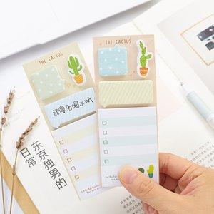 1pc Cute Cactus Kawaii Memo Pad Sticky Notes Cute Office Supplies Bookmark Paper Scrapbooking Sticker