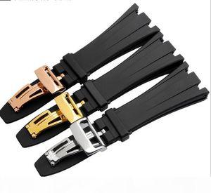 Silikon-Gummi-Armband-Armband-Armband Sport Watche Band 28mm Uhrenarmband Für Ap Uhren Armbanduhren Gürtel Schraube