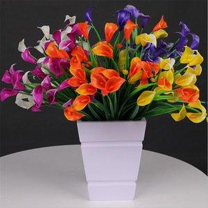 "Fake Calla (7 stem bunch) 13.78"" Length Simulation Plastic Alocasia Lily for Wedding Home Decorative Artificial Flowers"