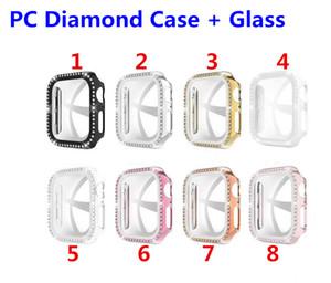 الماس للحصول على حالة ووتش 5 4 3 2 1 الذكية 40mm مشاهدة 44mm والغلاف PC ضد الصدمات حالات شل للإكسسوارات iwatch 4 Shiring الذكية