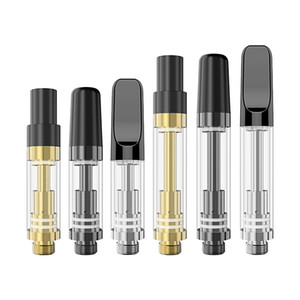 Glass oil cartridge atomizer new products hottest co2 silver gold glass oil cartridge vaporizer cartridge empty with 0.5ml 1.0ml