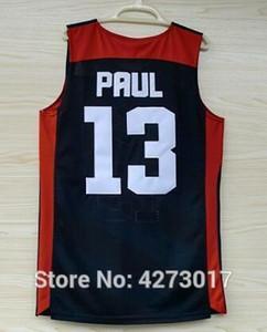 # 13 Chris Paul 2012 Londra Rüya Takımı USA Üst Basketbol Jersey ABD Boyut S-XXL