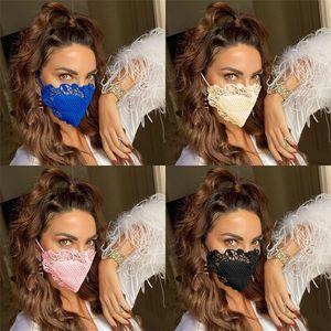 6 Custom Dust Rosto Lavável Cor Mascarilla Anti Fumaça Máscaras Máscaras Máscaras Reitável Lace Feminino Mascherine 9ol Respirable C2 useB