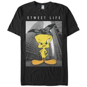 Топы Summer Прохладный Смешные футболки Looney Tunes Tweety Bird Sweet Life Мужская футболка Graphic