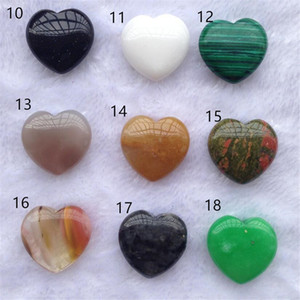 Reiki Minerals Gemstone Pendant Home Natural Decor Quartz Handmade Stone Heart Shape DIY Gift Crystal Chakra Healing Jewelry Gtqmo