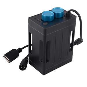 Fiducia Fuoco impermeabile 18650 Banca di potere della cassa della scatola USB 5V di ricarica telefono DC8.4V pacco batteria della scatola di caso per LED Bike