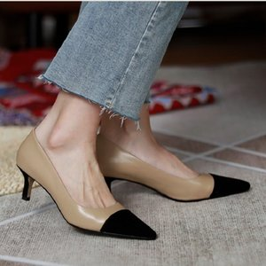 2020 Mode Femmes Chaussures Pompes Runway élégant bout pointu peu profond de talons hauts pour dames Autumn Party d'hiver Sandales