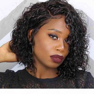 360 Frontal Wig Bleached Knots Brazilian Virgin Remy Gueless Curly 360 Full Human Lace Wigs Pre Plucked For Black Women