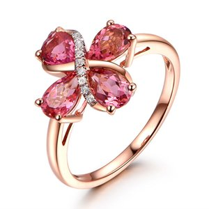 Japanese and Korean Version of Water Drop Ring Rose Gold Jewelry Wholesale Jewelry Wedding Rings Rings for Women Anniversary