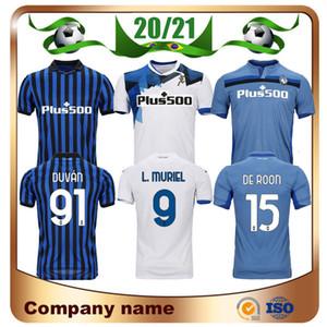 20/21 camisetas de futebol Atalanta BC 2020 Início L.MURIEL COMEZ DE SALA Gosens da camisa do futebol Iličić MANCINI Longe uniforme de futebol