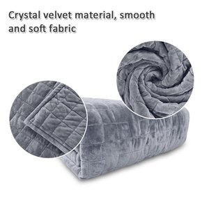 Weighted Blanket Cover Soft Duvet Double-Sided Solid Faux Fur Square Quilt Cover For Anxiety Autism ADHD Insomnia Or Stress